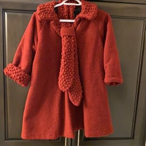 vintage Made in Canada Teddy maxi coat with matching scarf, tuque and mittens!